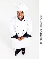 chef, americano, femmina, africano