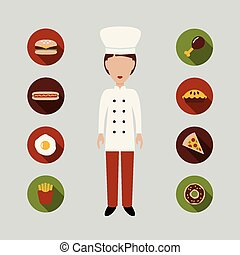 chef and food icons