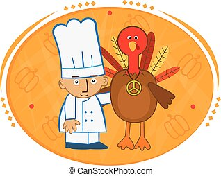 Chef And Turkey