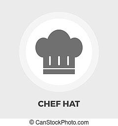 chef, appartamento, icon., cappello
