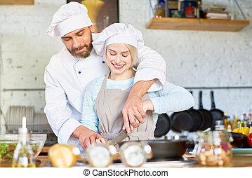 chef, assistente, lavoro squadra, giovane professionale