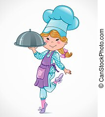 Chef baby with tray
