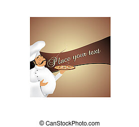 Chef background - Background with cute chef serving ...