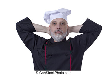 chef, barba grigia