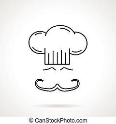 Chef black line vector icon
