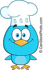Chef Blue Bird Character