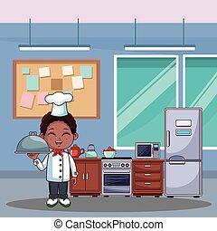 Chef boy cartoon