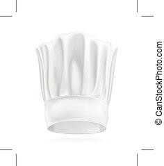 chef, cappello bianco