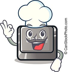 Chef cartoon delete button located on keyboard