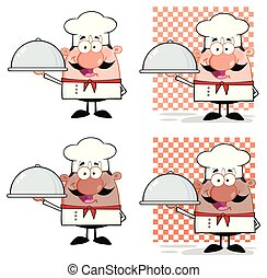 Chef Cartoon Mascot Character Collection - 2