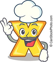 Chef cartoon multiply of a delete sign
