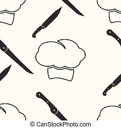 chef , cartoon seamless pattern background