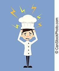 Chef Cartoon - with Worried Face