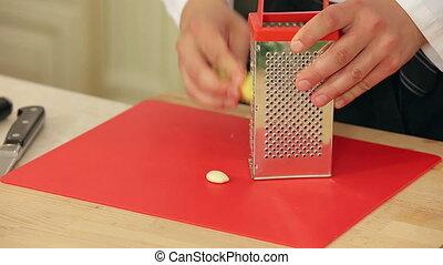 Chef Chops Garlic and Grates Ginger HD