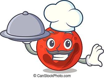 chef, cibo, pianeta, marte, cartone animato, mascotte