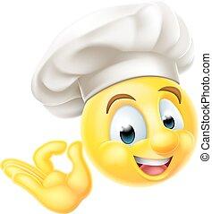 chef, cocinero, emoticon, emoji