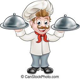 Chef Cook Cartoon Character Mascot