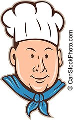 Chef Cook Happy Isolated Cartoon