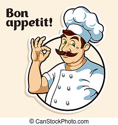 Illustration of a chef
