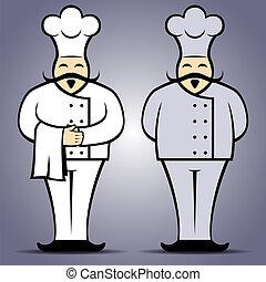 Chef cook in uniform