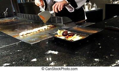 chef cooking beef menu - chef cooking japan beef menu