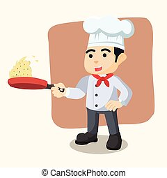 chef cooking fried rice