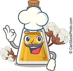 Chef cottonseed oil isolated in the character vector ...