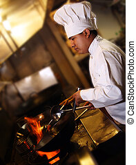 chef, cottura, 2