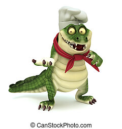 Chef croc showing pose