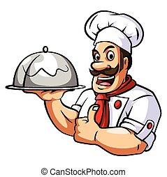 chef cuistot, blanc