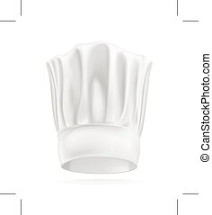 chef cuistot, chapeau blanc