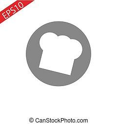 chef cuistot, croquis, chapeau, illustration
