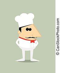 chef cuistot, dessin animé