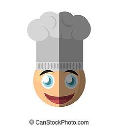 chef cuistot, emoticon, conception, dessin animé