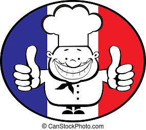 chef cuistot, heureux