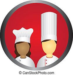 chef cuistot, icône