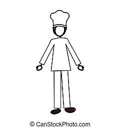 chef cuistot, image, dessin animé, icône