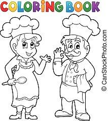 chef cuistot, livre coloration