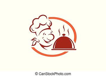 chef cuistot, logo, kitchener, restaurant