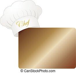 chef cuistot, menu, chapeau