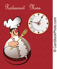 chef cuistot, menu, restaurant
