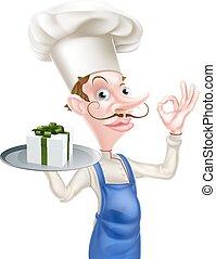 chef cuistot, parfait, cadeau, signe