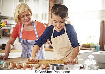 chef cuistot, peu, cuisson, cuisine