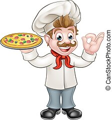 chef cuistot, pizza