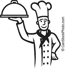 chef cuistot, plaque, (chief, cook)