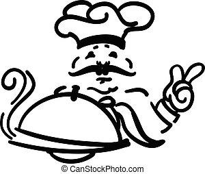 chef cuistot, plaque