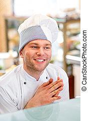 chef cuistot, portrait, cuisinier