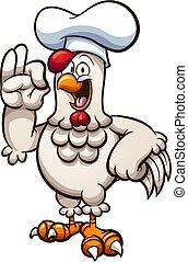 chef cuistot, poulet