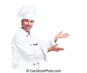 chef cuistot, professionnel, man.