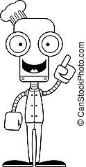 chef cuistot, robot, idée, dessin animé